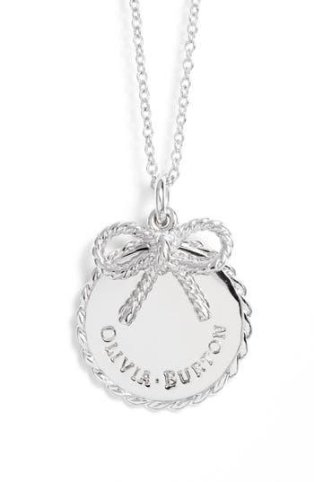 Women's Olivia Burton Coin Bow Pendant Necklace