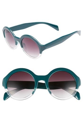 Women's Bp. 50Mm Round 2 Tone Sunglasses - Emerald/ Clear