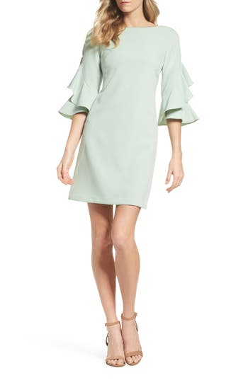 Taylor Dresses Ruffle Sleeve Shift Dress