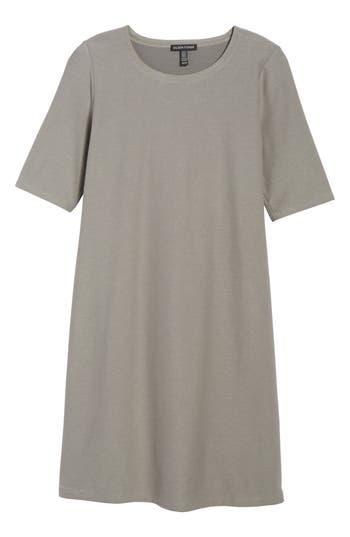Eileen Fisher Stretch Knit Shift Dress, Grey