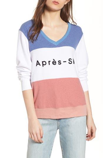 Women's Wildfox Apres Ski Sweatshirt, Size XX-Small - Blue