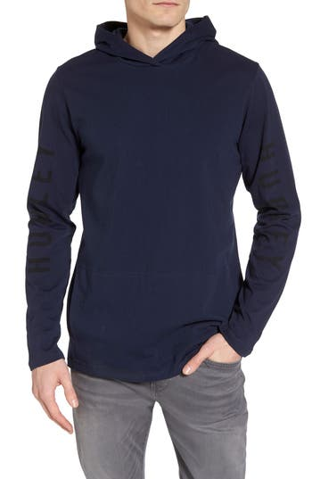 Hurley The One Hoodie Pullover, Blue