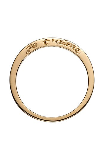 Women's Nora Kogan Je T'Aime Side Script Stackable Ring