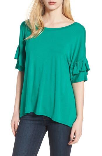 Women's Chelsea28 Ruffle Sleeve Tee, Size XX-Small - Green