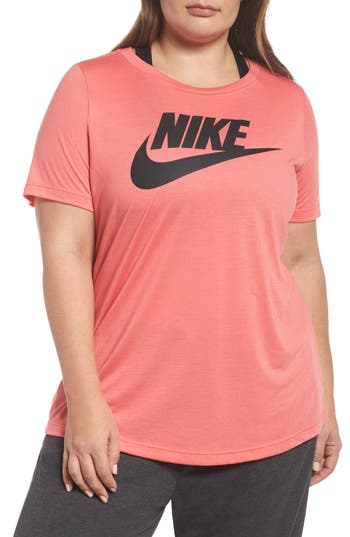 Plus Size Nike Essential Tee, Pink