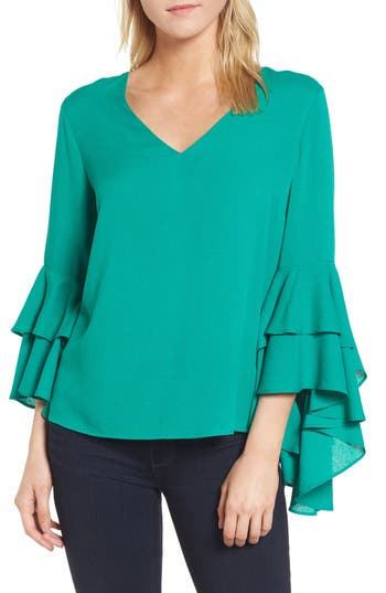 Women's Chelsea28 Bell Sleeve Top, Size XX-Small - Green