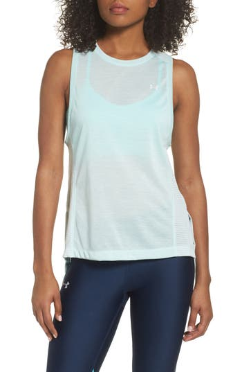 Under Armour Threadborne Muscle Tank, White