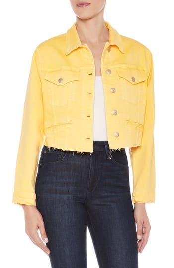 Women's Joe'S '80S Crop Denim Jacket, Size X-Small - Yellow