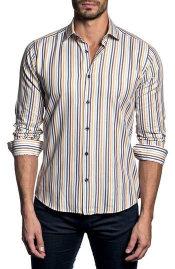 Men's Jared Lang Trim Fit Stripe Sport Shirt