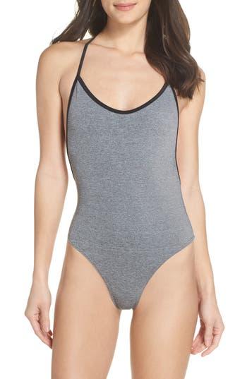 Plus Size Chromat T-Suit One-Piece Swimsuit, Grey