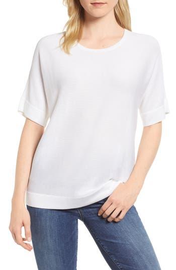 Eileen Fisher Round Neck Top, White