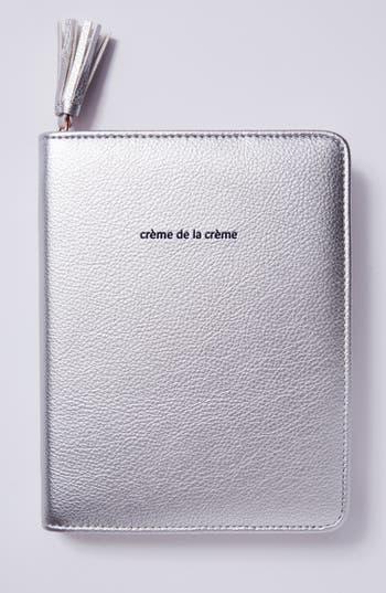 anthropologie idiom leather journal - metallic
