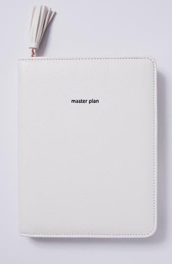 anthropologie idiom leather journal - white