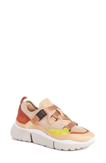 Chloe Sonnie Low Top Sneaker, Pink