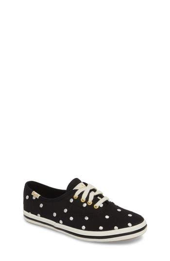 Girls Keds X Kate Spade New York Champion Polka Dot LaceUp Shoe Size 15 M  Black