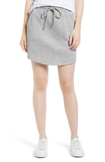 Gibson X Living In Yellow Cassidy French Terry Skirt, Grey