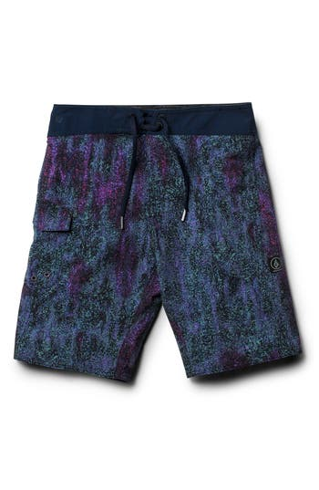 Boys Volcom Plasm Mod Board Shorts Size 22  Blue