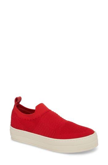 Jslides Hilo Platform Slip-On Sneaker, Red