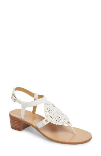 Jack Rogers Gretchen Block Heel Sandal, White