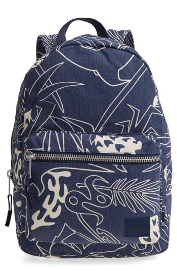 Herschel Supply Co. X-Small Grove Cotton Canvas Backpack - Blue