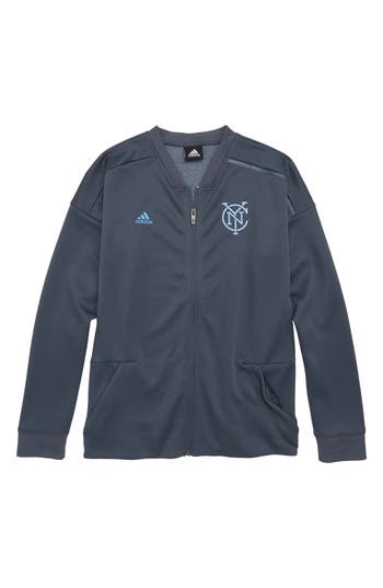 Boys Adidas Mls New York City Fc Anthem Full Zip Jacket Size S  8  Blue