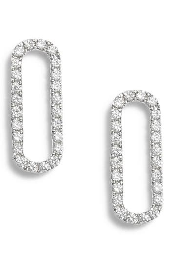 Bony Levy Rounded Rectangle Diamond Stud Earrings