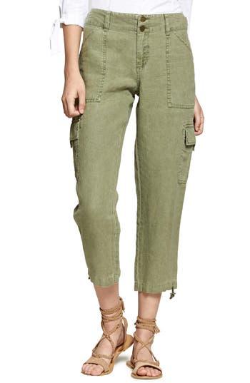 Sanctuary Terrain Linen Crop Cargo Pants, Green