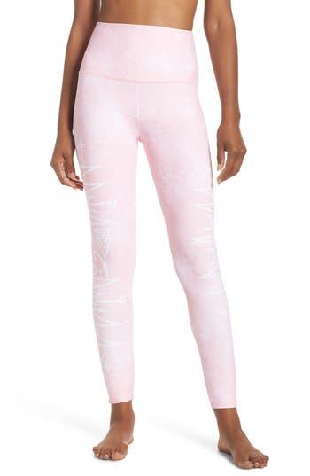 Onzie High Waist Graphic Leggings, Pink