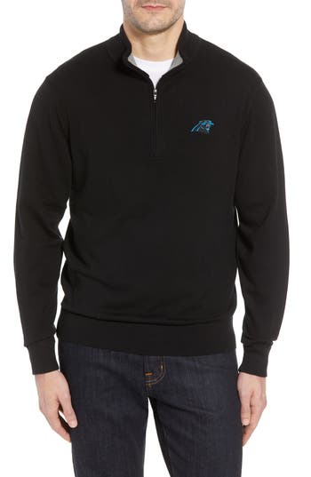 Cutter & Buck Carolina Panthers - Lakemont Regular Fit Quarter Zip Sweater