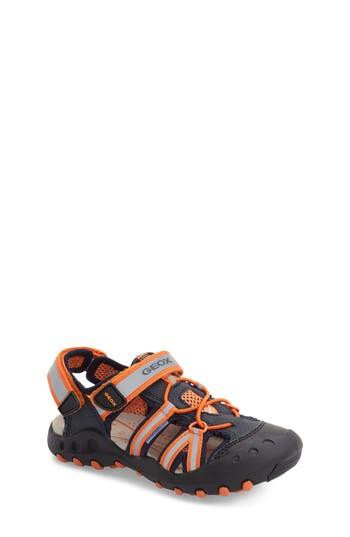 Boys Geox Kyle Sandal Size 3.5US  35EU  Blue