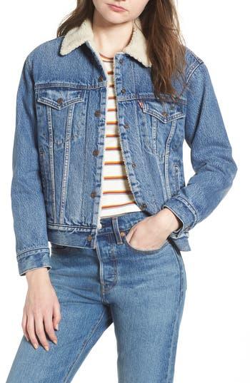 Levi's® Ex-Boyfriend Faux Fur Lined Denim Jacket