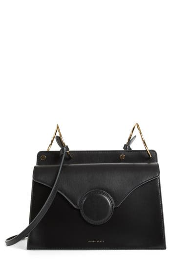 PHOEBE LEATHER CROSSBODY BAG - BROWN