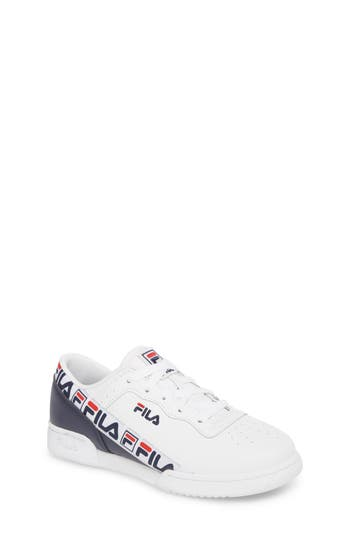 Boys Fila Original Fitness Logo Tape Sneaker Size 7 M  White