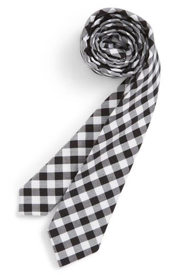 Boys Nordstrom Check Cotton Tie Size Big Boy  Black