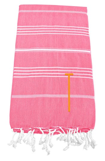Cathy's Concepts Monogram Turkish Cotton Towel, Size One Size - Pink