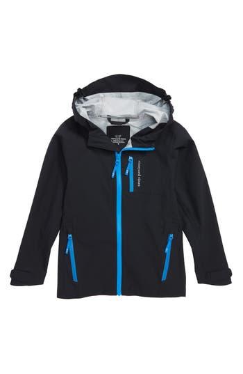 Boys Vineyard Vines Noreaster Hooded Rain Jacket Size 6  Black