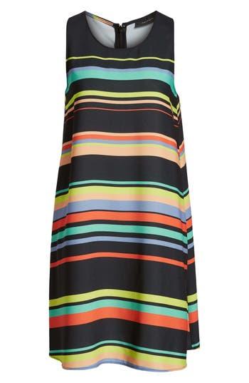 petite women's halogen a-line dress, size xx-small p - black