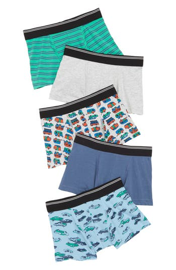 Boys Tucker  Tate 5Pack Trunks Size 1820  None