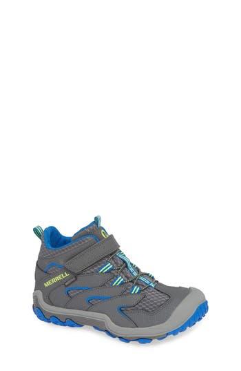 Boys Merrell Chameleon 7 Mid Waterproof Boot Size 4 M  Grey