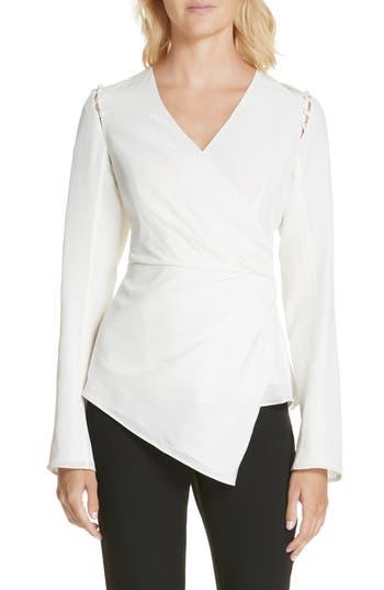 364ec52c05a51 Women s Amur Joanna Button Shoulder Silk Blouse