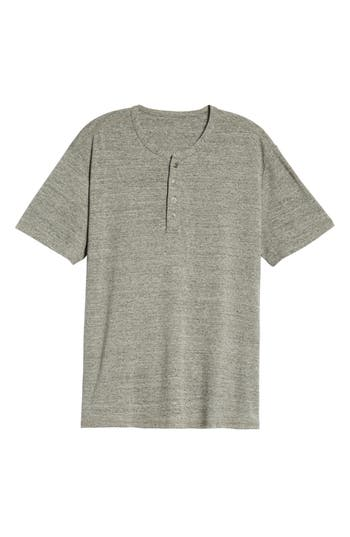 Men's Treasure & Bond Nep Henley Shirt, Size Small - Grey
