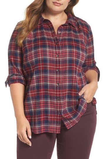 Caslon® Plaid Tunic Shirt