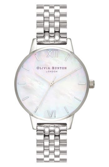 Olivia Burton Mother of Pearl Bracelet Watch, 30mm
