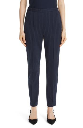 St. John Collection Pinstripe Double Face Jersey Pants