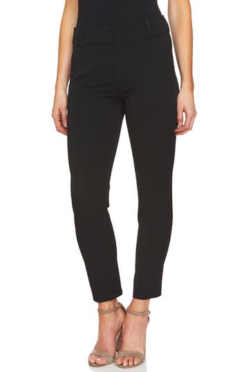 CeCe 2-Way Stretch Twill Straight Pants