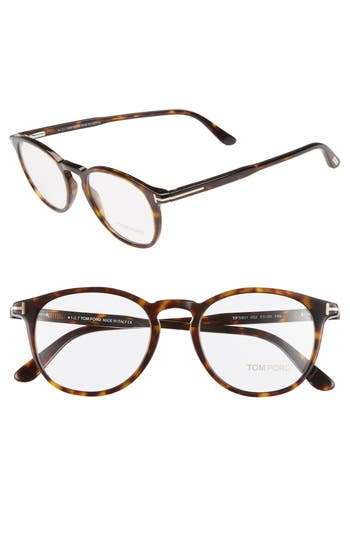 Tom Ford 51mm Round Optical Glasses