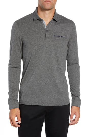 Ted Baker London Loomie Slim Fit Tipped Long Sleeve Polo