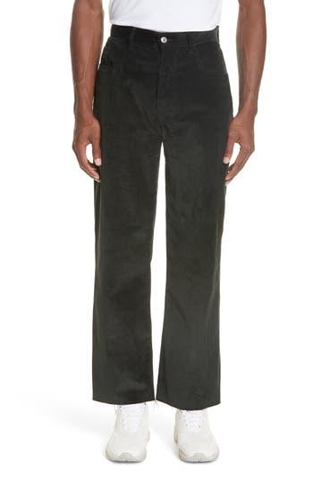 KENZO Straight Leg Cut Off Corduroy Pants