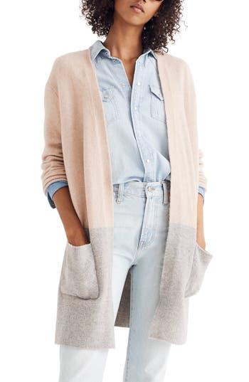 Madewell Kent Colorblock Cardigan Sweater