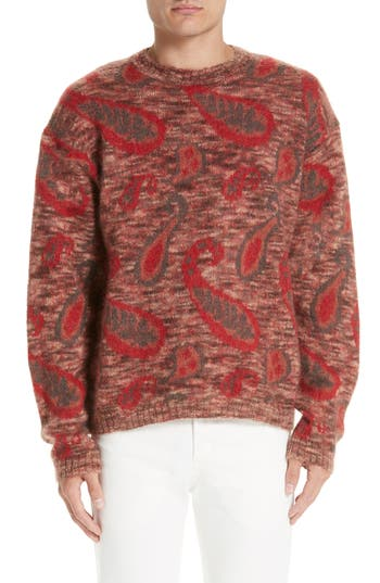 LEMAIRE Mohair Blend Paisley Sweater